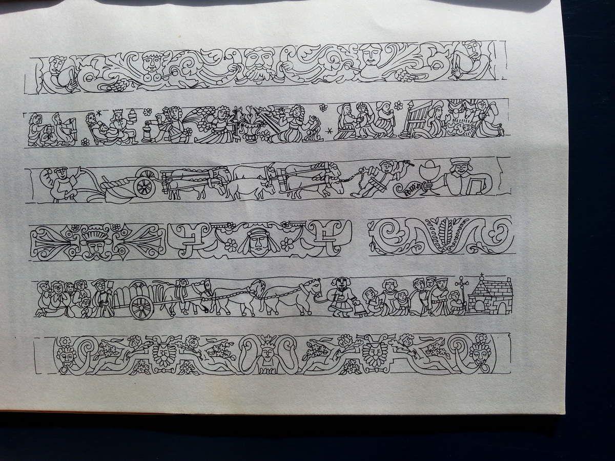 Sablières de La Martyre, dessin de Fons de Kort (droits reservés) .