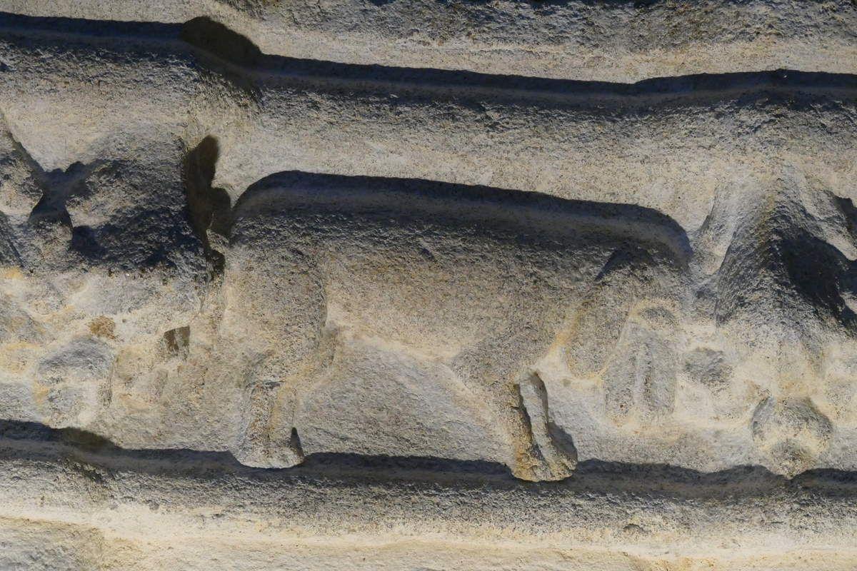 Les chapiteaux de l'église Saint-Salomon de La Martyre. Photographie lavieb-aile.