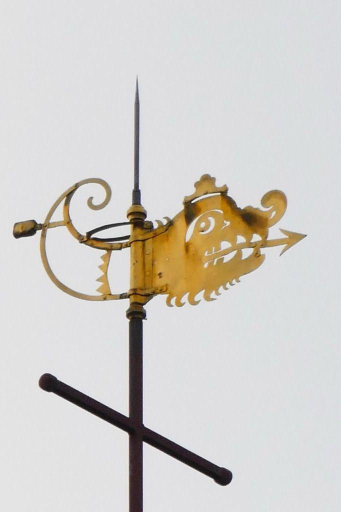 Girouette, clocher de l'église Saint-Houardon, Landerneau. Photographie lavieb-aile.