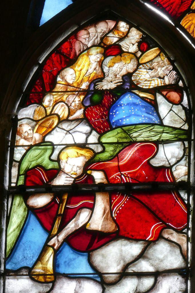Registre supérieur de la Baie 3, collatéral nord, église Saint-Salomon, La Martyre. Photographie lavieb-aile.