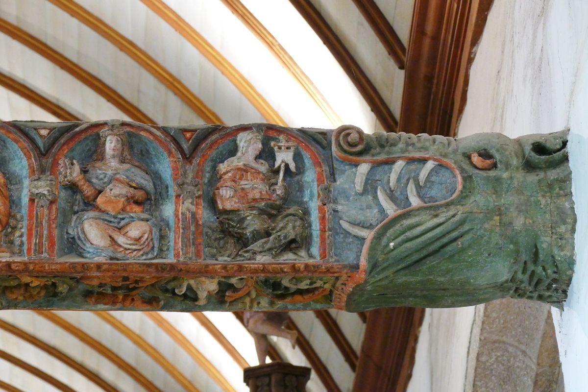 Poutre de Gloire (XVIe siècle) de l'église de Lampaul-Guimiliau. Photographie lavieb-aile 2016.