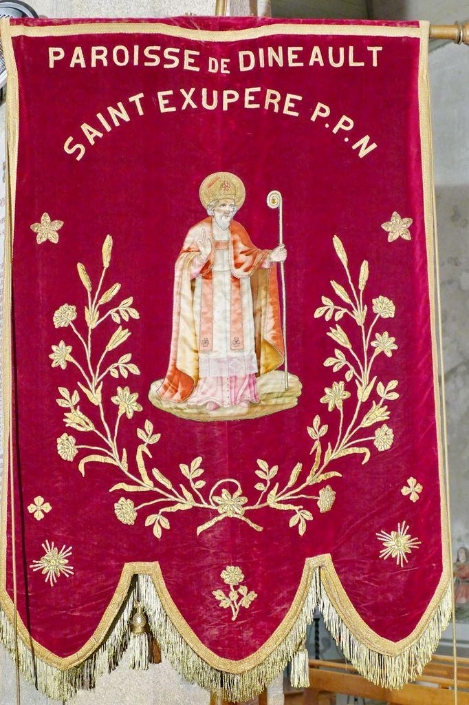 Saint Exupère. Bannière de 1958,  église Sainte Marie-Madeleine de Dinéault. Photographie lavieb-aile février 2017.