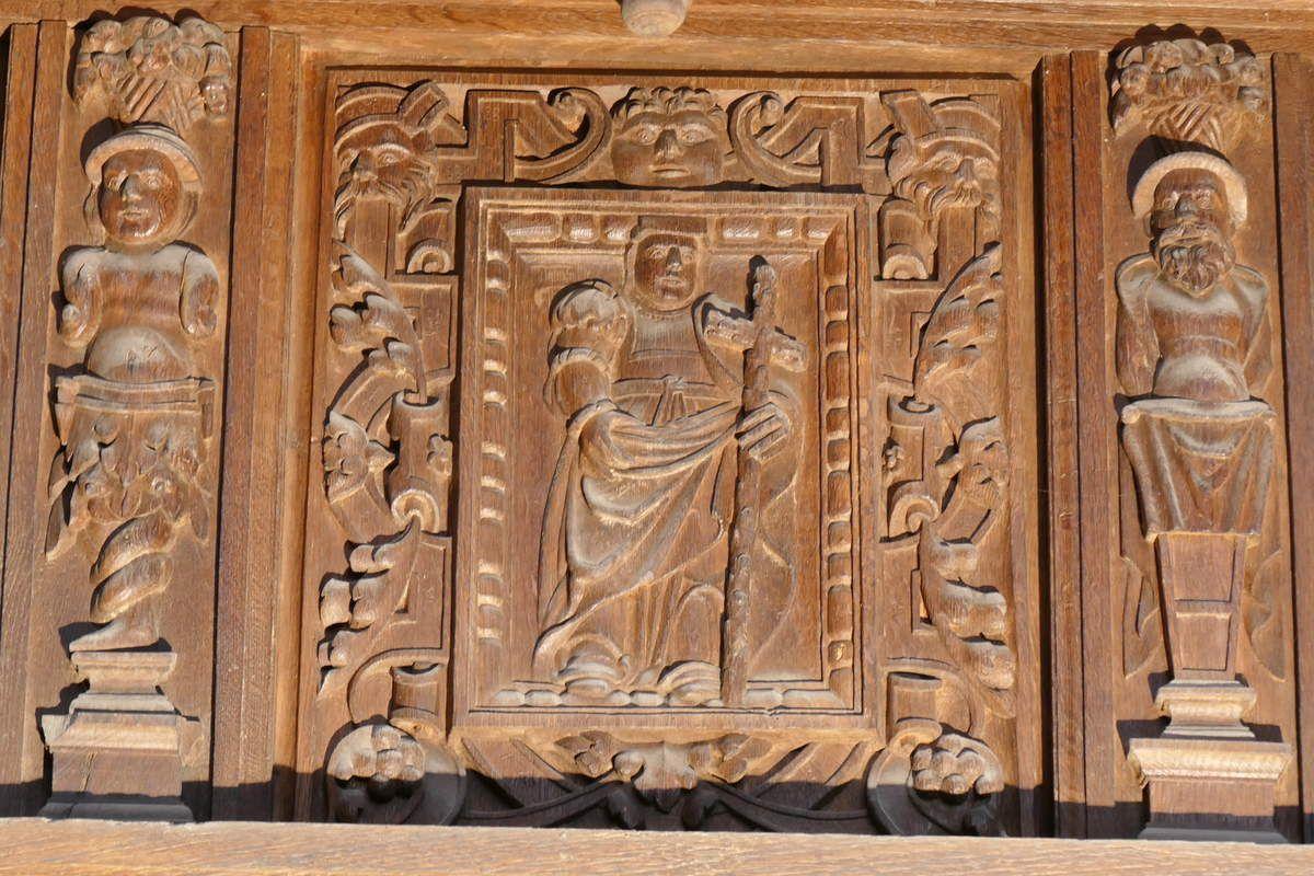 La Sibylle Hellespontine et la croix de la Crucifixion, chancel de la chapelle de Saint-Herbot. Photographie lavieb-aile mars 2017.