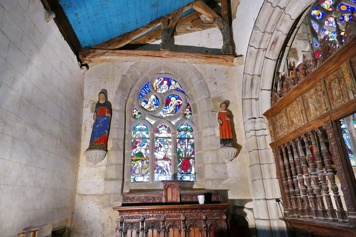 Chapelle Sainte-Barbe, chapelle Saint-Herbot en Plonévez-du-Faou. Photographie lavieb-aile mars 2017.