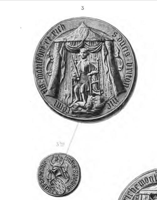 sceau en majesté du duc Jean V (premier sceau, 1405-1408 ; 2ème sceau 1410-1441)  https://archive.org/stream/lettresetmandem00blangoog#page/n276/mode/2up