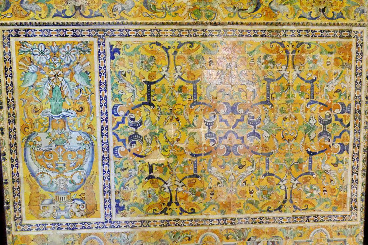 Les azulejos du Salon de Charles Quint de l'Alcazar royal de Séville. Première partie.