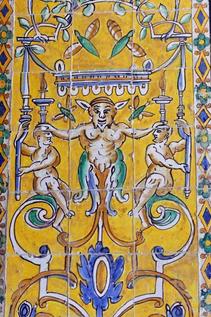 Azulejos parCristobal de Augusta en 1577-1578, Alcazar royal de Séville . Photographie lavieb-aile 2015.
