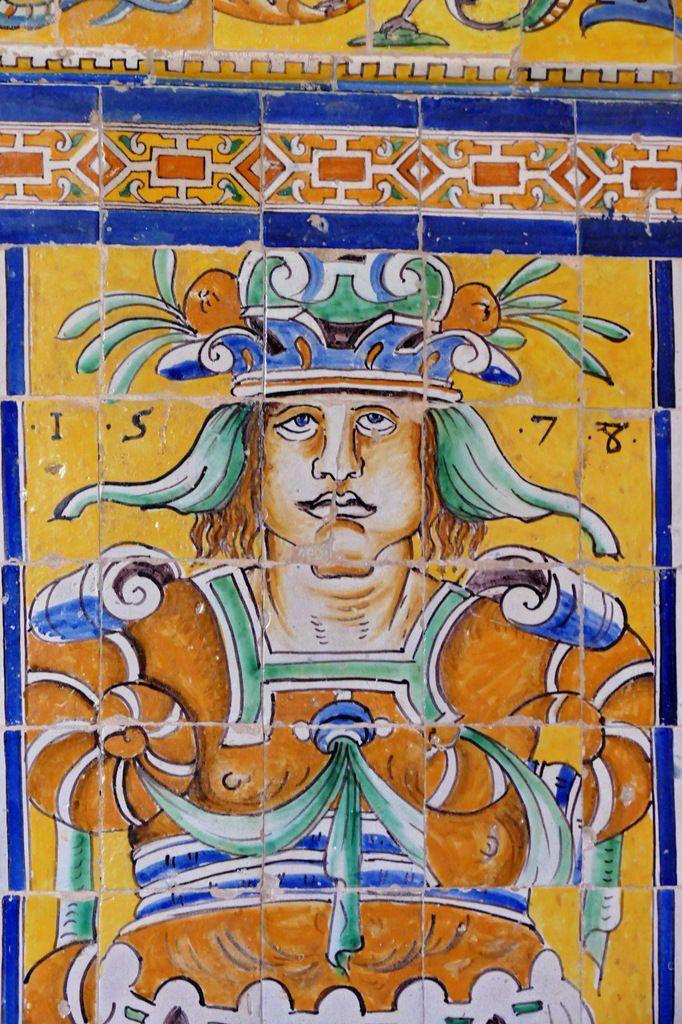 Metra, parCristobal de Augusta en 1577-1578, Alcazar royal de Séville . Photographie lavieb-aile 2015.