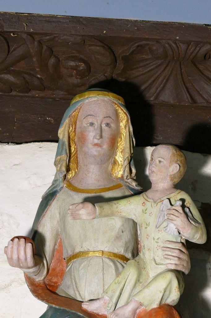 Vierge à l'Enfant, oratoire Notre-Dame, Musée de l'abbaye de Daoulas. Photographie lavieb-aile juin 2017.