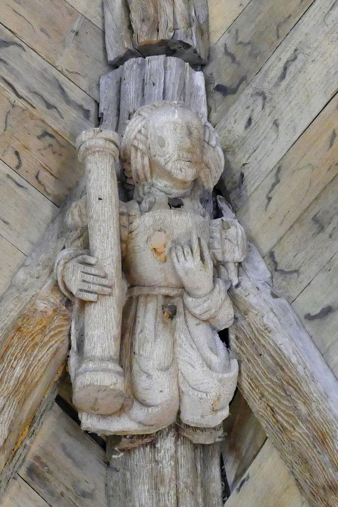 Une Sibylle , voûte lambrissée de la partie sud-ouest de la chapelle du château de Kerjean. Photographie lavieb-aile juillet 2017.