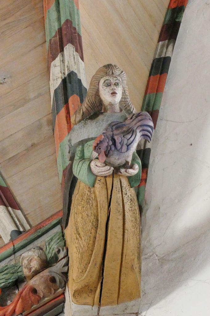 La charpente sculptée du chœur de l'église Notre-Dame-de Croas-Batz à Roscoff ...par le Maître de Pleyben.