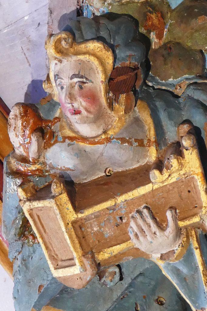 La Sibylle de Samos,  voûte de la croisée du transept de l'église Saint-Germain de Pleyben, photographie lavieb-aile 2017.