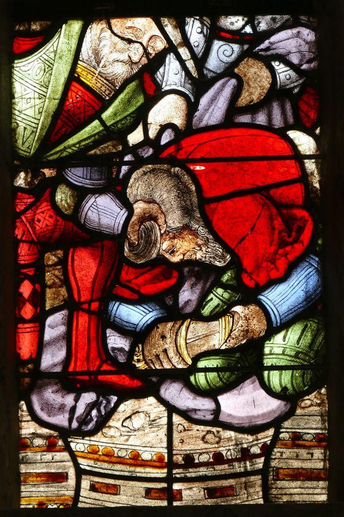 Maîtresse-vitre ou baie 0, vers 1550, de l'église de Guengat. Photographie lavieb-aile juillet 2017..