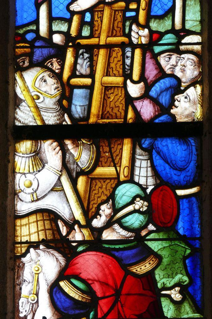 Maîtresse-vitre (atelier Le Sodec, vers 1550-1575) de l'église de Gouezec. Photographie lavieb-aile octobre 2017.