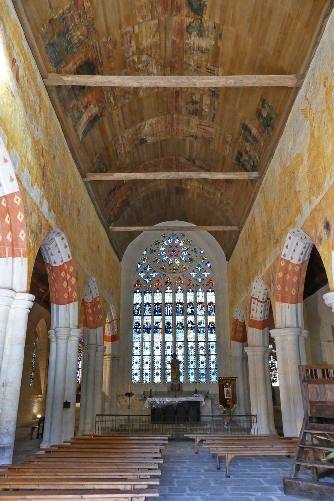 Vue générale du chœur de la chapelle Saint-Jacques à Saint-Léon, Merléac. Photographie lavieb-aile septembre 2017.