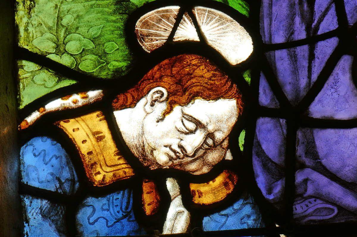 Saint Jean, 1539, maîtresse-vitre de l'église Saint-Yves de La Roche-Maurice. Photographie lavieb-aile septembre 2017.