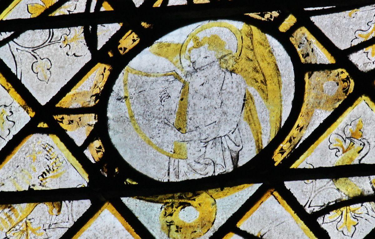 Baie 15 (vers 1360-1370) de la chapelle du Rosaire de la cathédrale d'Évreux. Photographie lavieb-aile mai 2014.