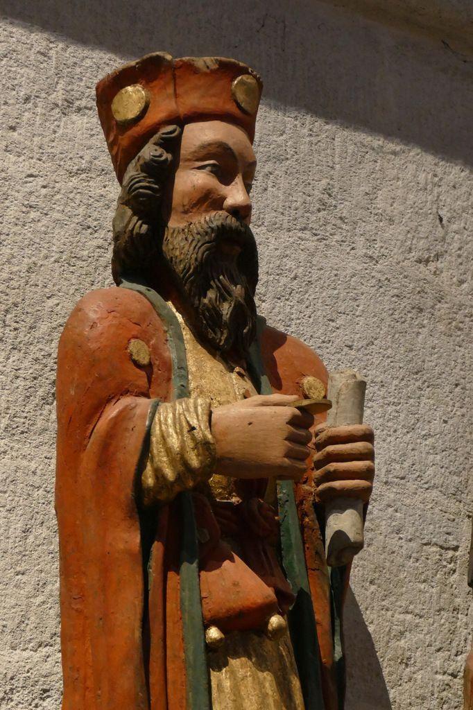 Saint Yves entre le Riche et le Pauvre. XVIe siècle, cathédrale de Quimper. Photographie lavieb-aile novembre 2017.
