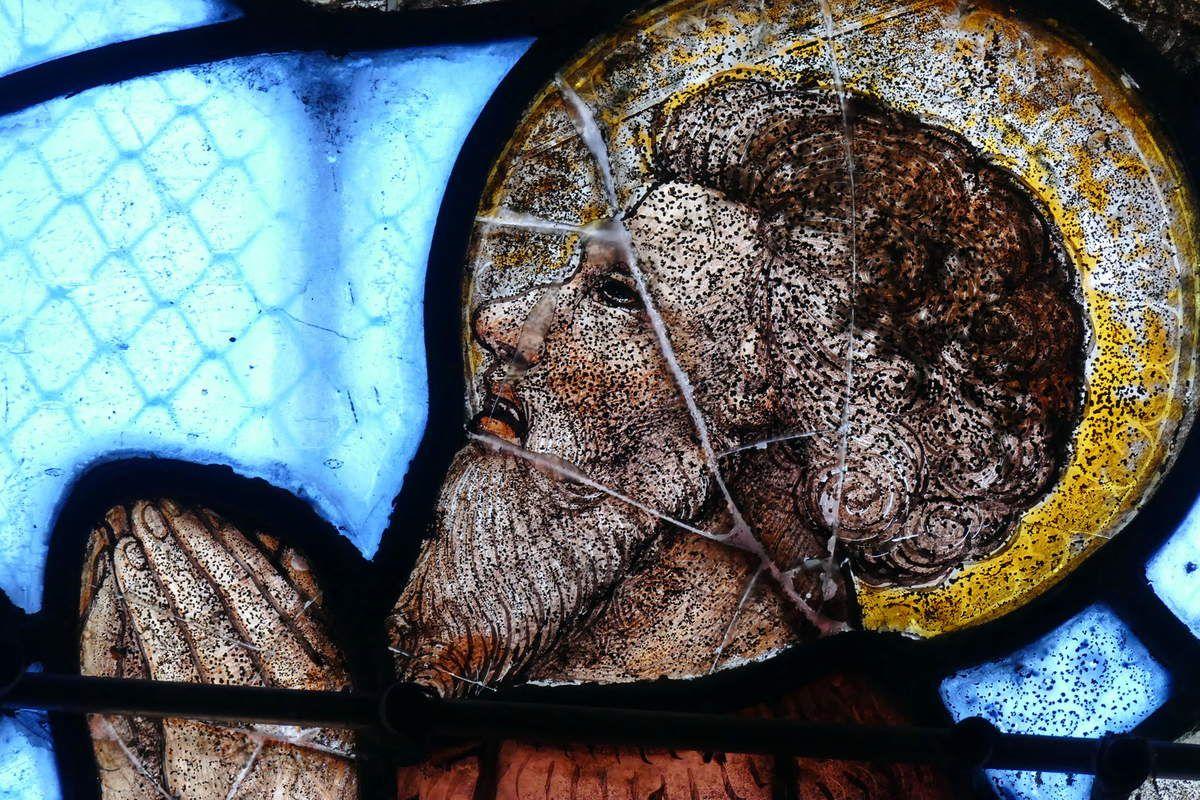 """Saint Jean-Baptiste,  """"Jugement Dernier,"""" (vers 1525), baie 4 de l'église de Guengat. Photographie lavieb-aile novembre 2017."""