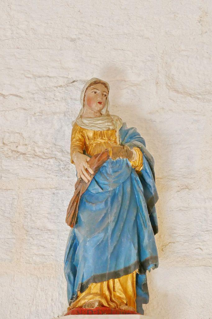 Notre-Dame de Lorette. Bois polychrome, XVIIIe siècle.  Chapelle Saint-Jacques à Merléac. Photographie lavieb-aile novembre 2017.