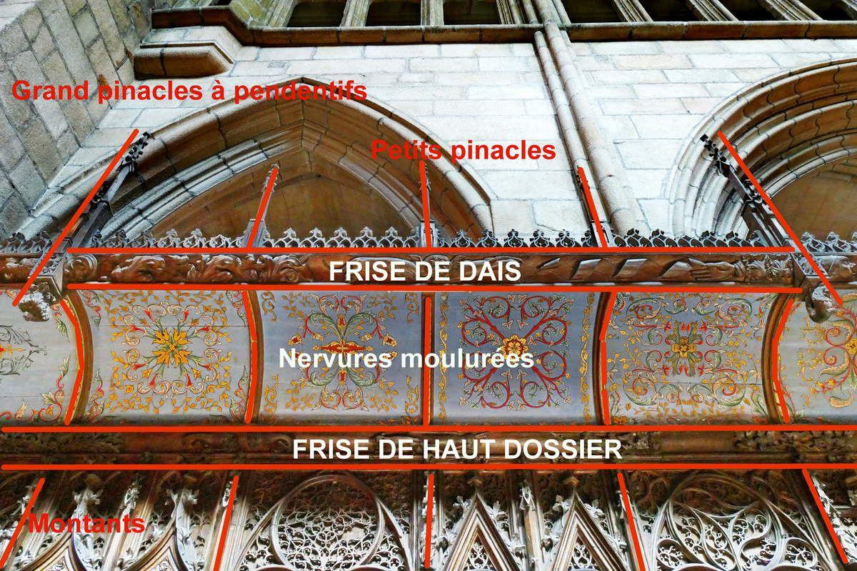 Stalles nord du chœur de la cathédrale de Saint-Pol-de-Léon. Photographie lavieb-aile juillet 2017.