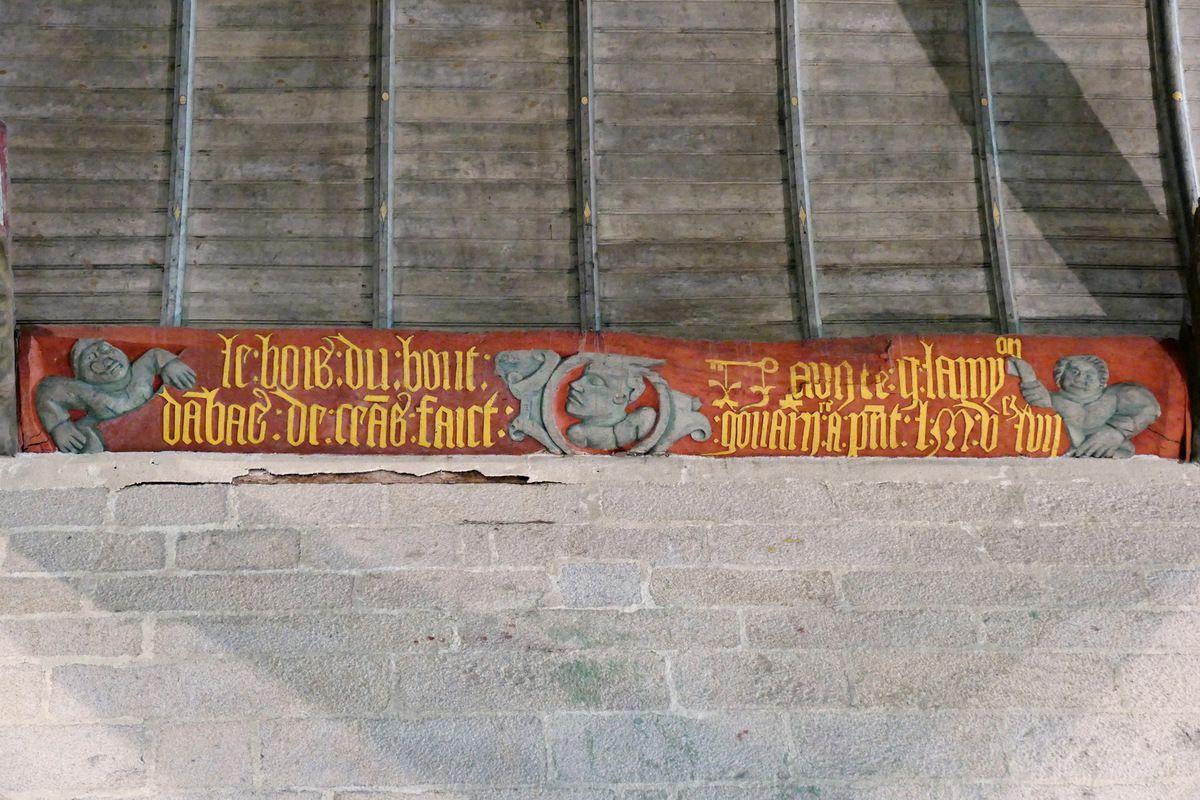 Sablière N4  de la nef de l'église Saint-Émilion de Loguivy-Plougras. Photographie lavieb-aile septembre 2017.