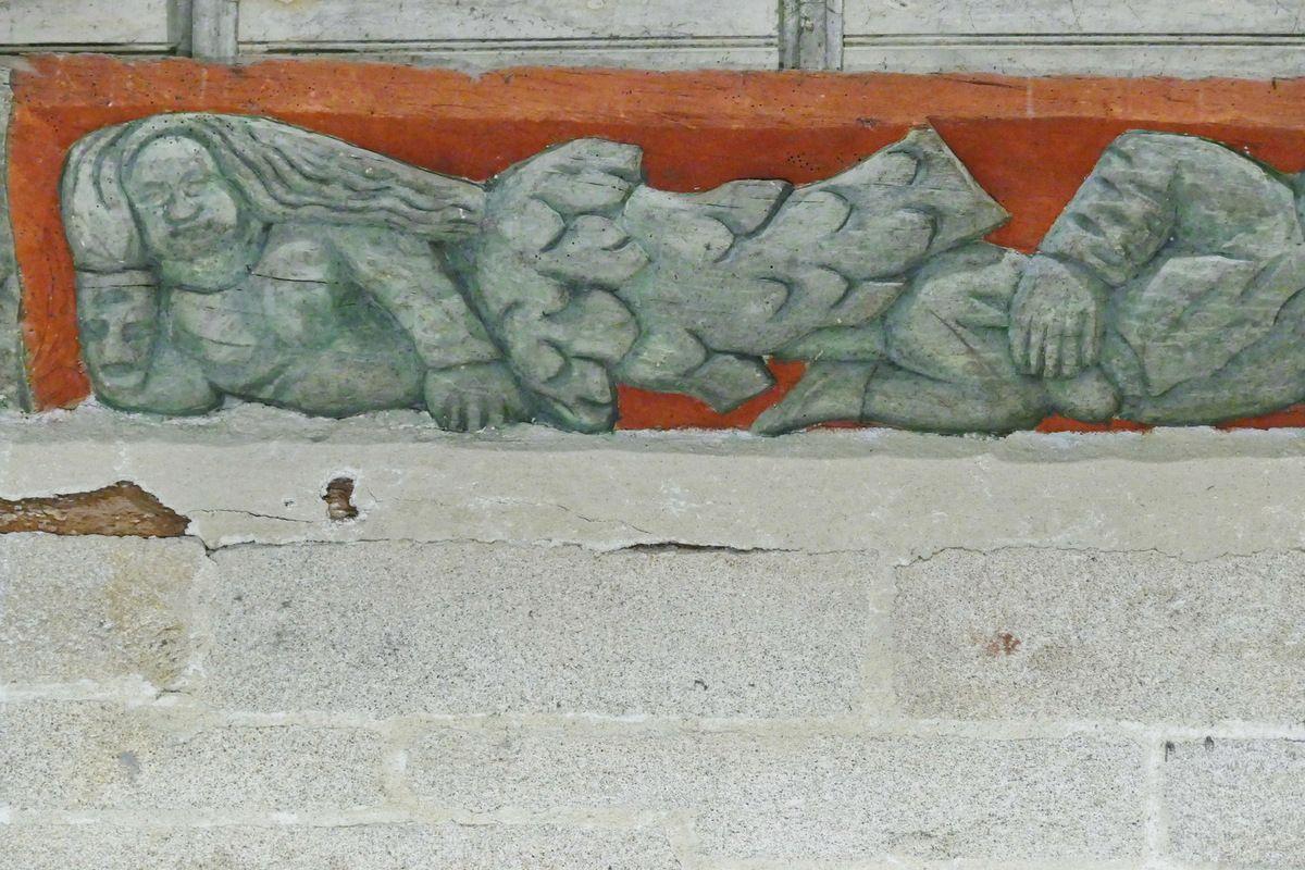 S3. Sablières du coté sud de la nef de l'église de Ploguivy-Plougras. Photographie lavieb-aile 16 septembre 2017.