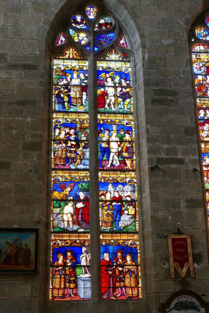 Baie n°5, Vie de sainte Barbe, église de Moncontour. Photographie lavieb-aile septembre 2017.