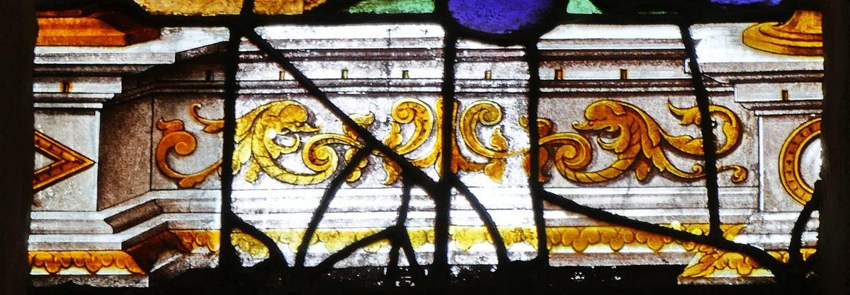 Baie 7 ou verrière de saint Yves (1537), église de Moncontour. Photographie lavieb-aile septembre 2017.