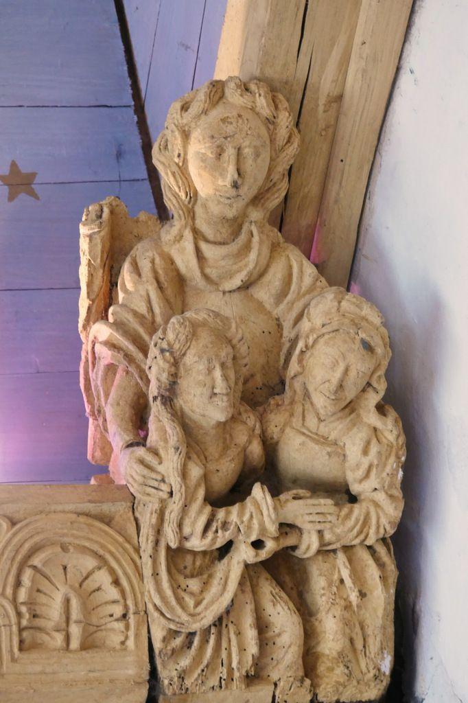 Blochet B11, charpente sculptée du bas-coté sud de l'église de Bodilis. Photographie lavieb-aile août 2017.
