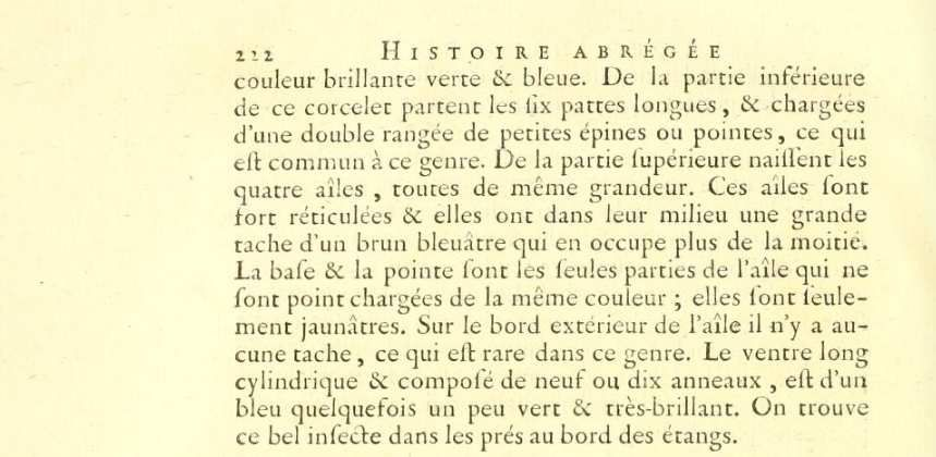 Zoonymie des Odonates: Le nom Calopteryx splendens, (Harris, 1780).