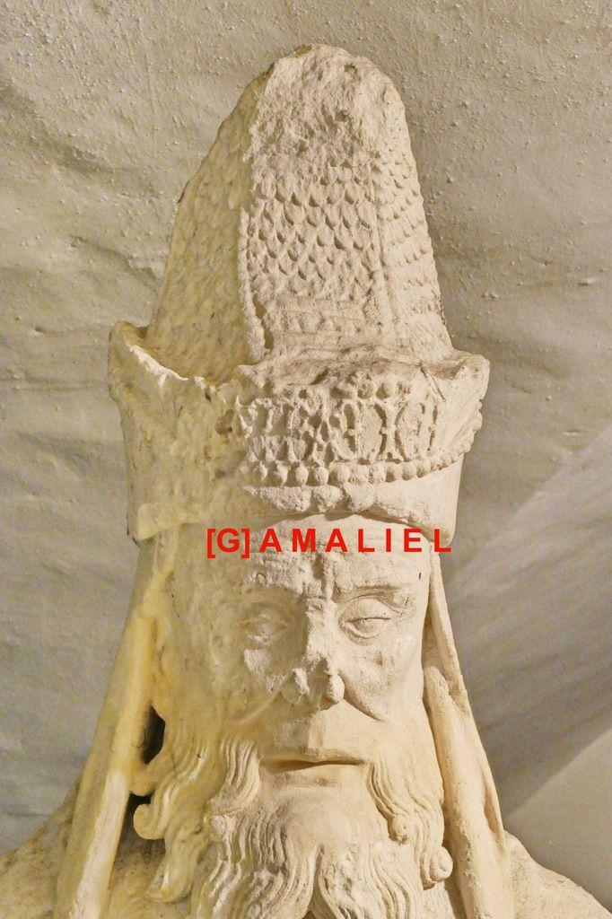 Gamaliel, Mise au tombeau, (calcaire, vers 1500), Abbatiale Sainte-Croix de Quimperlé.