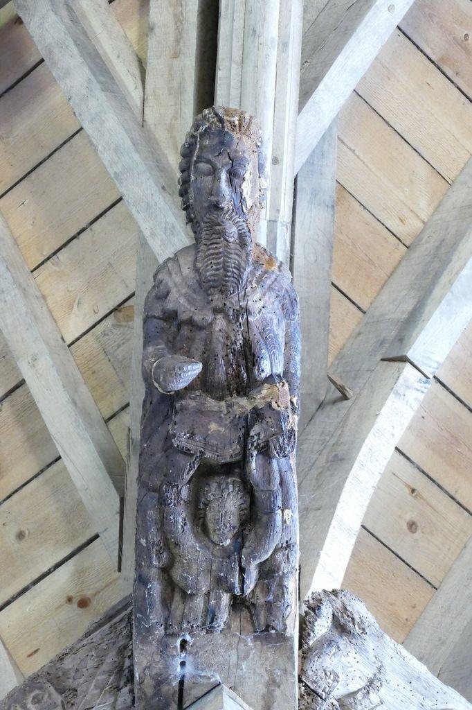 La charpente de la chapelle Saint-Jean à Saint-Nic. Photographie lavieb-aile 23 juin 2018.