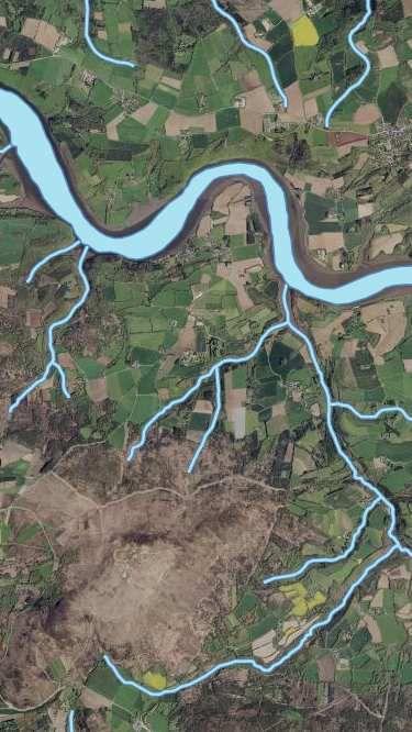 Geoportail /photo aérienne / Hydrographie.