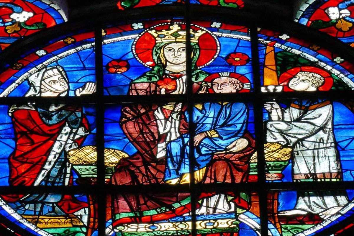 La baie 118 de la cathédrale de Chartres. Photographie lavieb-aile 20 juillet 2018.