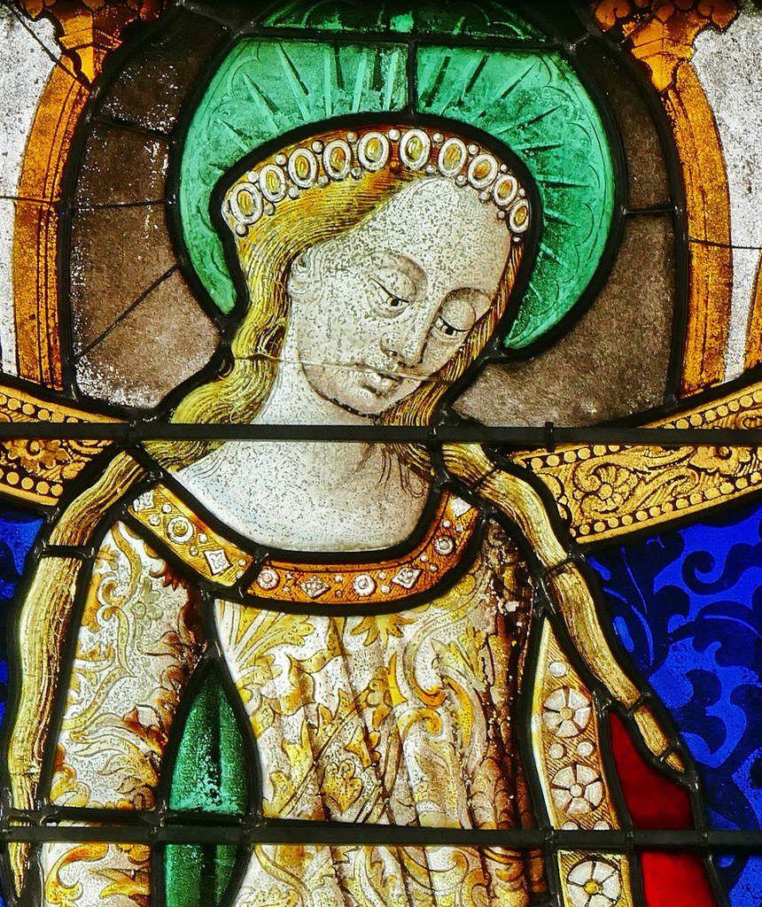 La baie 1 de 1460-1480 et  de 1500-1510 (Marie-Madeleine) de l'église Saint-Lô de Bourg-Achard.