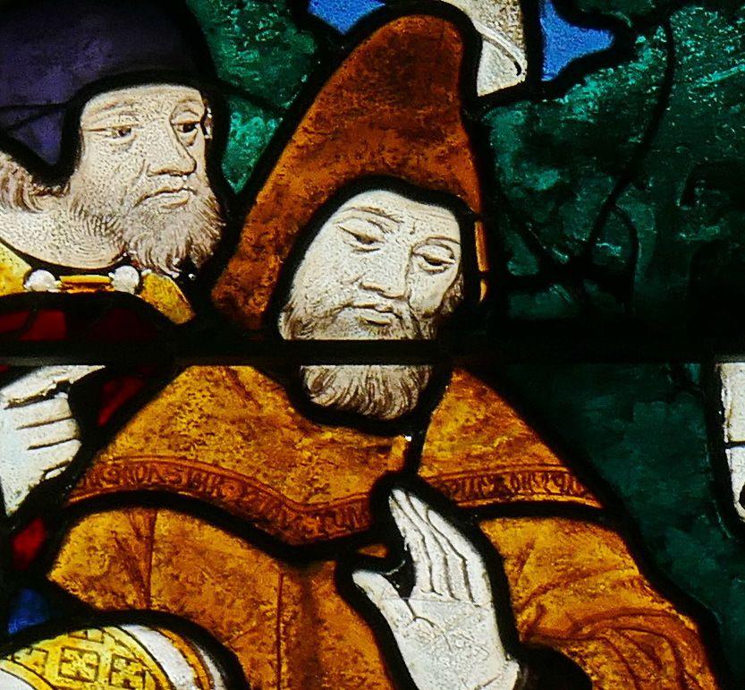Baie 2 (1500-1510, Maître de la vie de saint Jean-Baptiste) de l'église Saint-Lô de Bourg-Achard. Photographie lavieb-aile 25 août 2018.