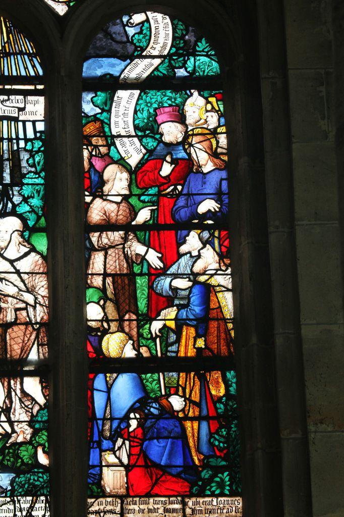 Baie 20 (maître de la vie de saint Jean-Baptiste, 1500-1510) de l'église Sainte-Foy de Conches. Photographie lavieb-aile.