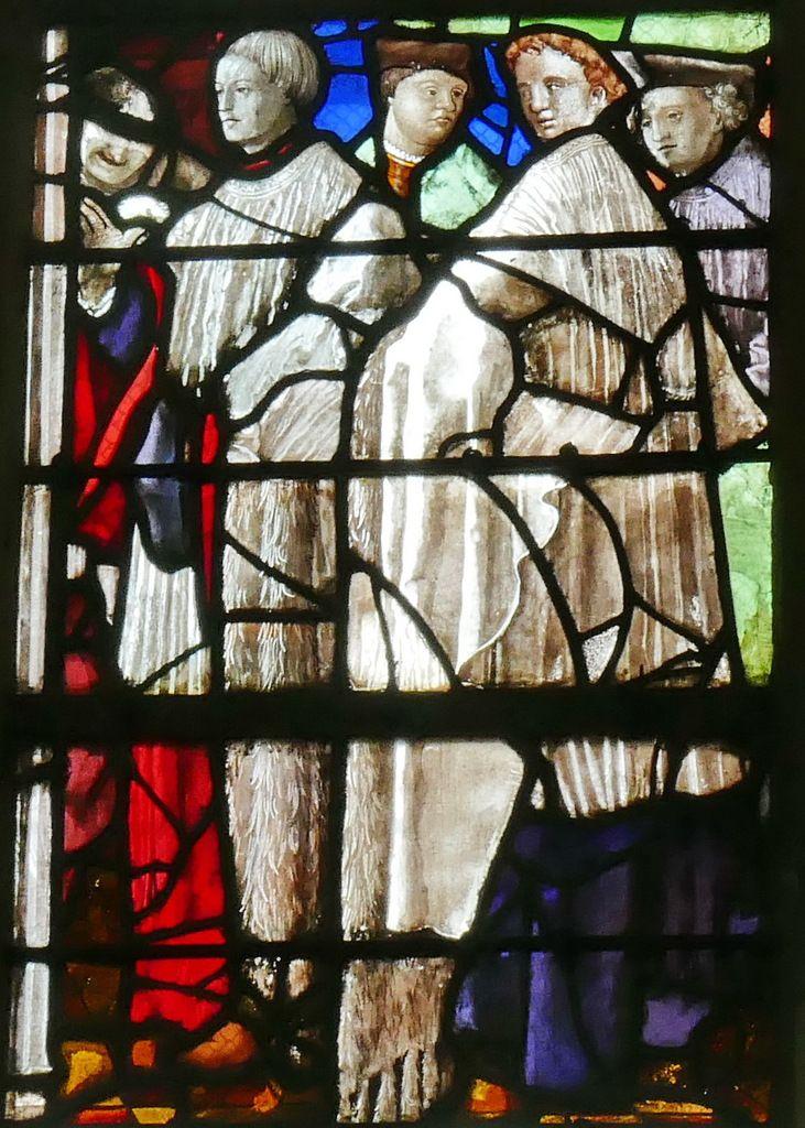 Baie 26, verrière de la Vie de saint Claude (1526), église de Gisors. Photographie lavieb-aile 26 août 2018.