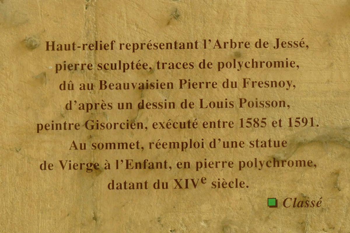 Cartel de L'Arbre de Jessé aux Sibylles, 1593, P. Le Fresnoy. église de Gisors. Photographie lavieb-aile 26 août 2018.