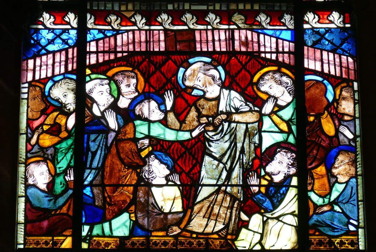 Verrière de la Vie glorieuse du Christ, baie 32, cathédrale de Strasbourg. Photographie lavieb-aile 2016.