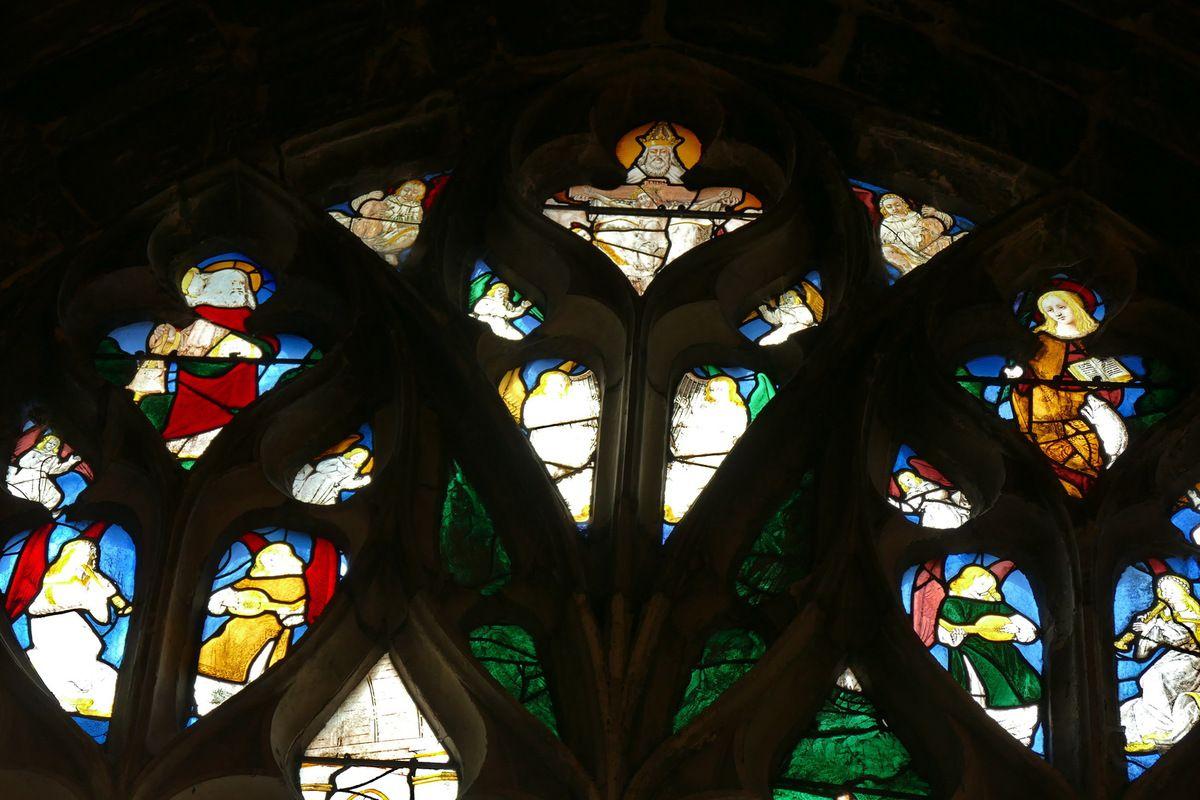 La baie 20 des Apparitions du Christ ressuscité (Maître de la Vie de saint Jean-Baptiste, vers 1505-1510) , église Notre-Dame de Louviers. Photographie lavieb-aile 26 août 2018.
