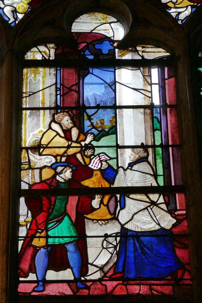 Le Miracle de Théophile (Nicolas Le Prince, vers 1530), baie 21, église de Louviers. Photographie lavieb-aile 26 août 2018.