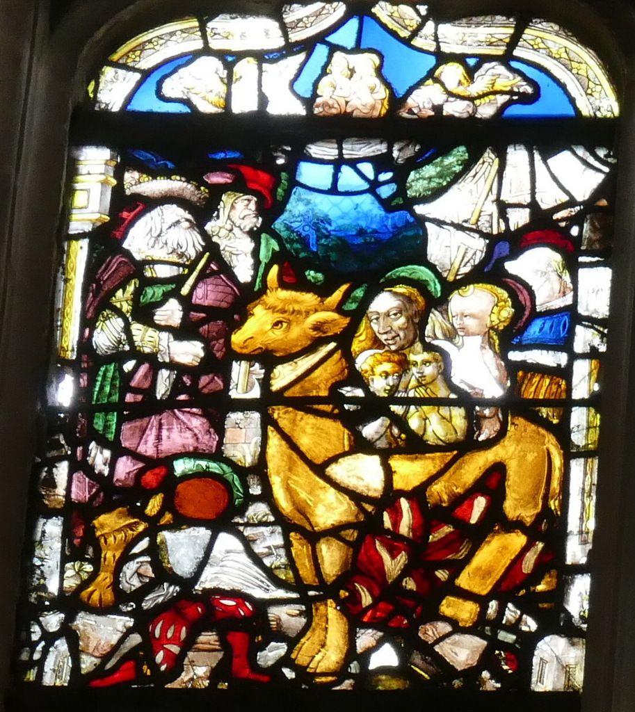 Verrière des saints ..., (1519), baie 12 de l'église de Pont-Audemer. Photographie lavieb-aile août 2018.