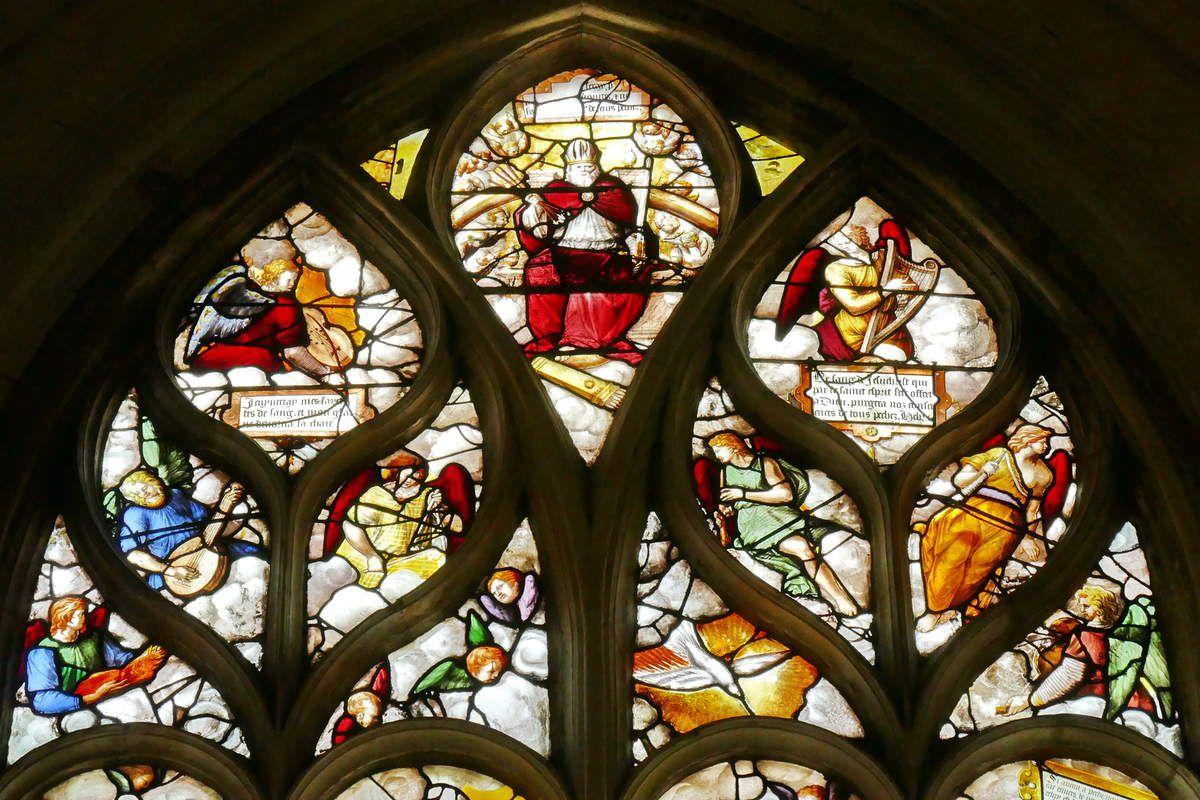 Verrière de la Rédemption,  baie 7 (1556), église Saint-Ouen de Pont-Audemer. Photographie lavieb-aile 26 août 2018.