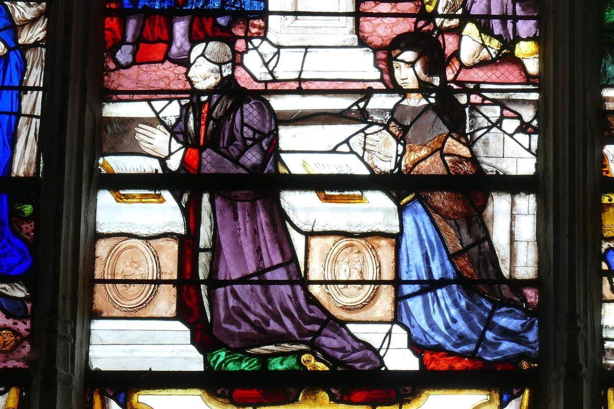 Verrière de sainte Clotilde en baie 26, Notre-Dame du Grand-Andely, Les Andelys. Photographie lavieb-aile 26 août 2018