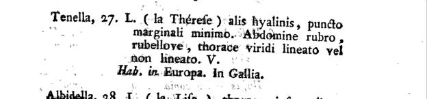 Zoonymie des Odonates : étude des noms du Ceriagrion tenellum.