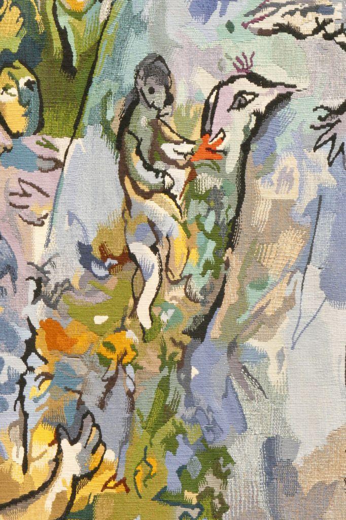 Tapisserie La Paix (détail), 1993, Yvette Cauquil-Prince d'après Chagall au Musée du Pays deSarrebourg. Photographie lavieb-aile 2 mai 2016 .