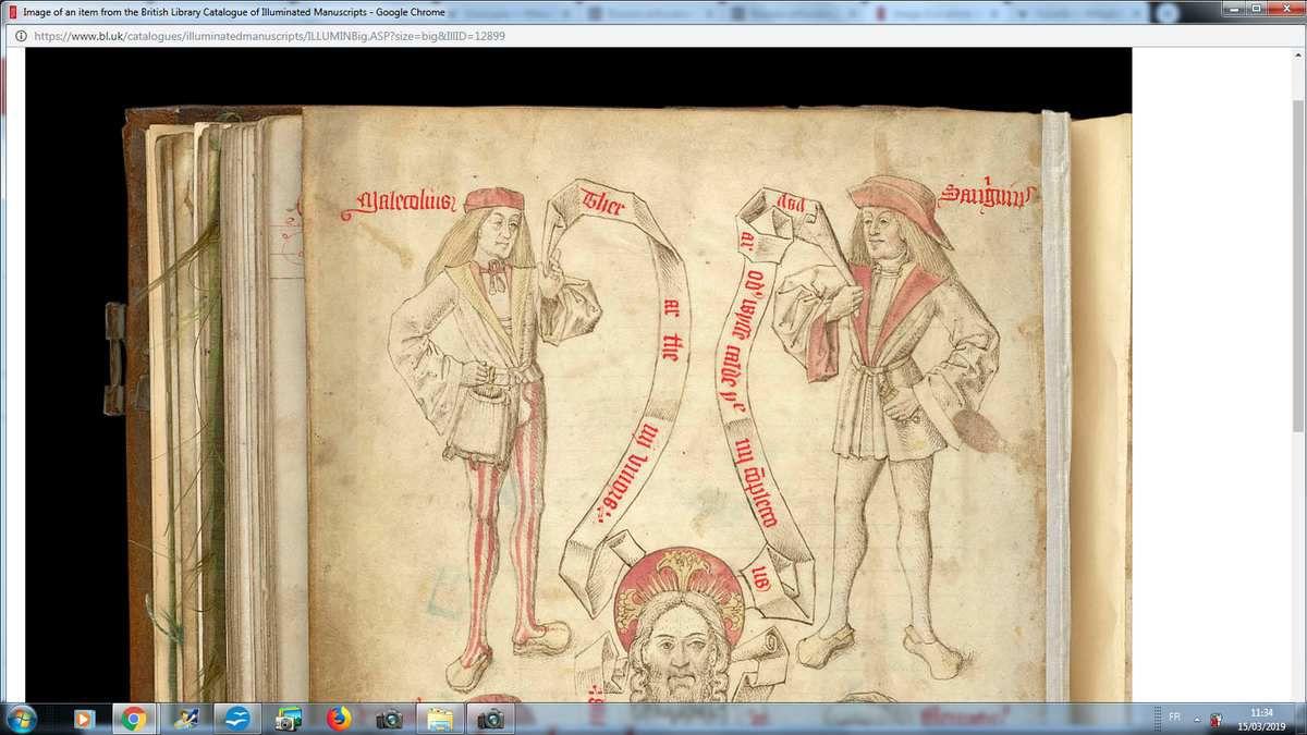 Les médecins mirant les urines des marges des manuscrits : une transition vers le motif du duo de Côme et Damien ?