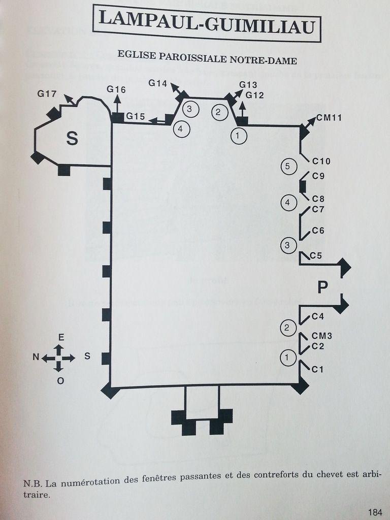 Plan par Emmanuelle Le Seac'h 1997,Les crossettes et les gargouilles dans quatre cantons du Finistère, mémoire dactylographié.